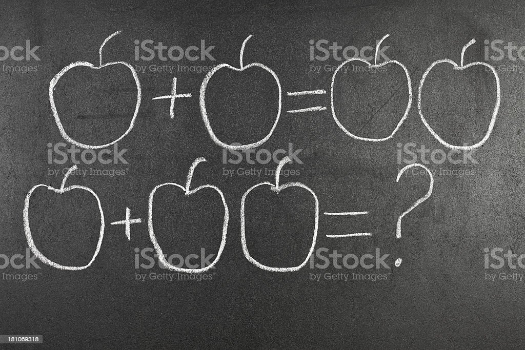 Blackboard Maths royalty-free stock photo