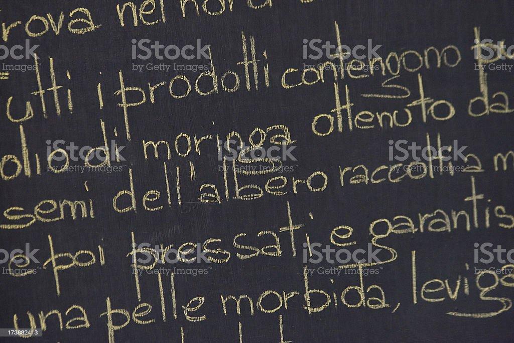 blackboard menu with chalk royalty-free stock photo