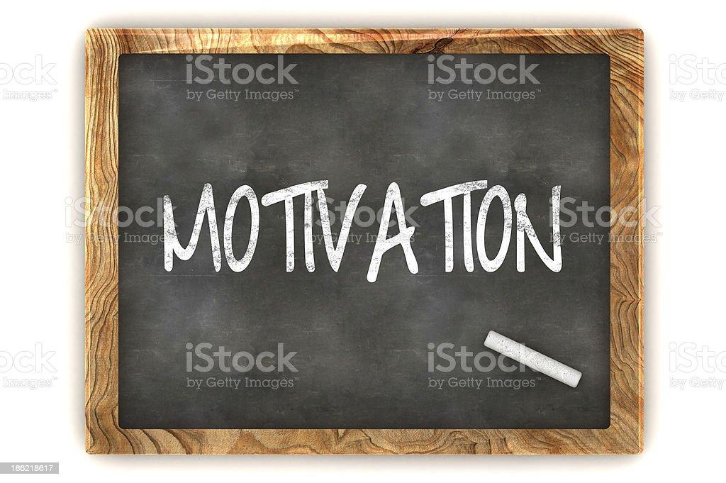 Blackboard Motivation stock photo