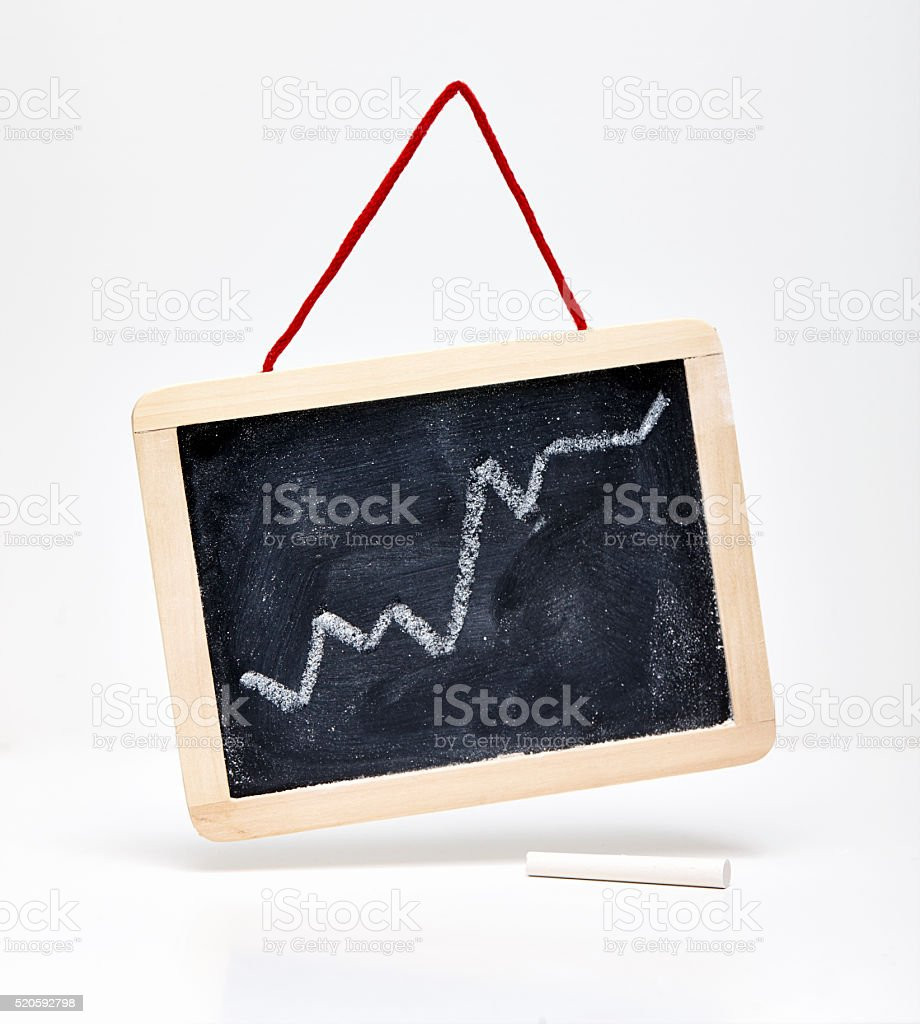 blackboard of success stock photo