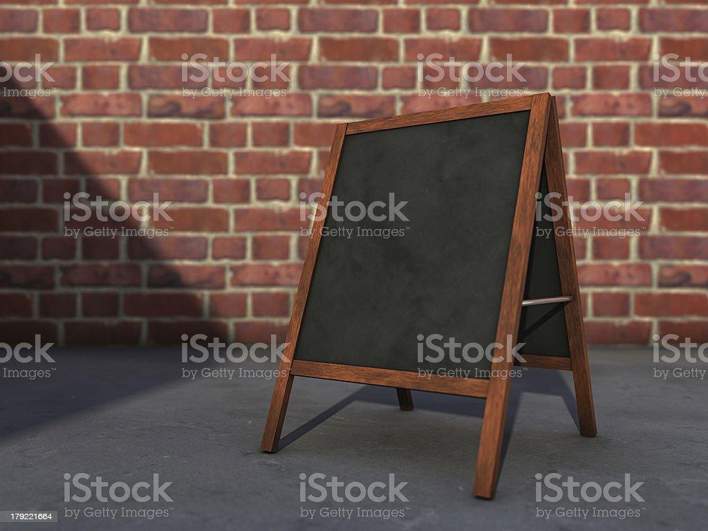 Blackboard on street stock photo