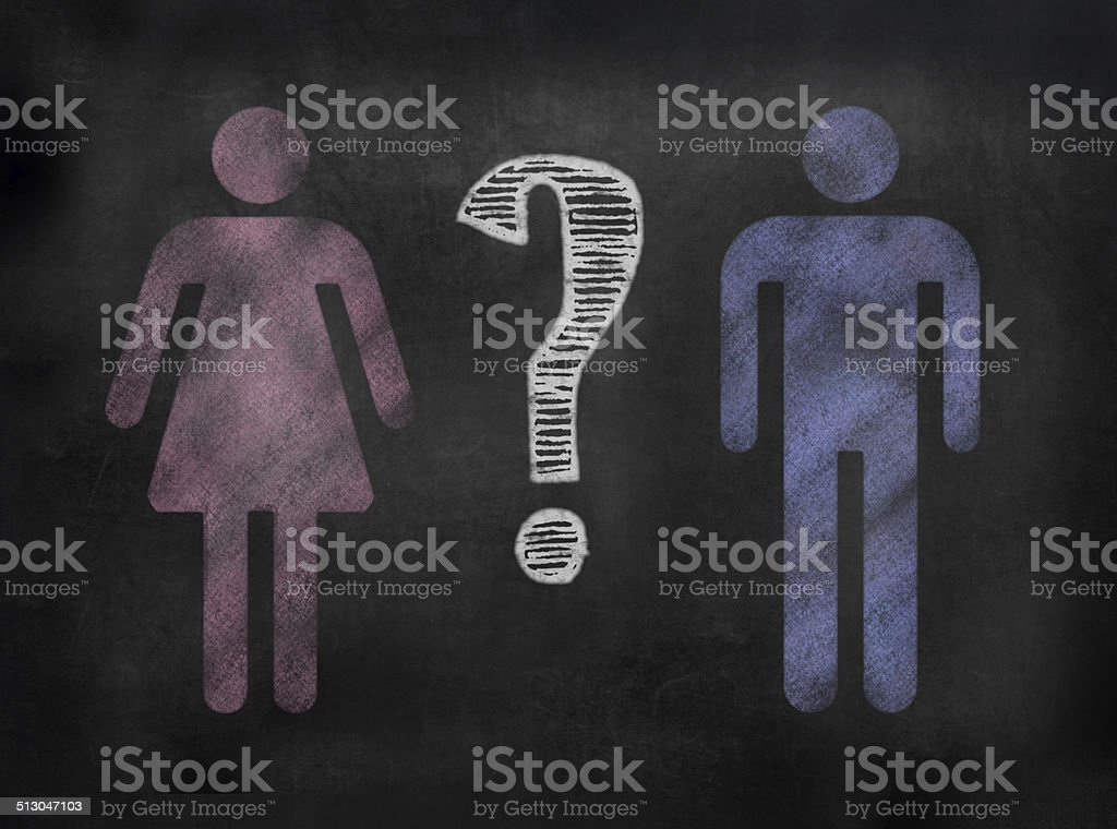 Blackboard or Chalkboard Gender image stock photo