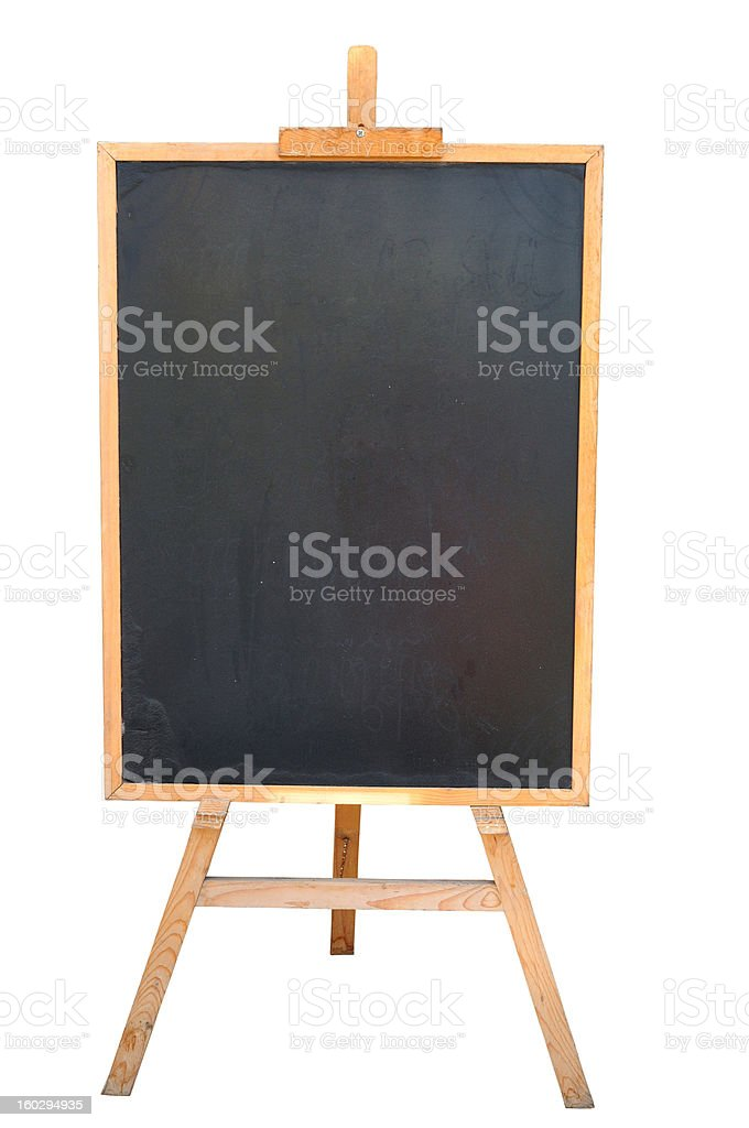Blackboard or Wooden Easel royalty-free stock photo