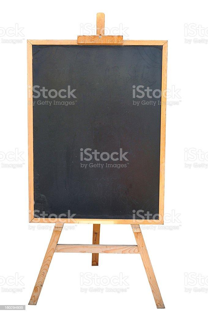 Blackboard or Wooden Easel stock photo
