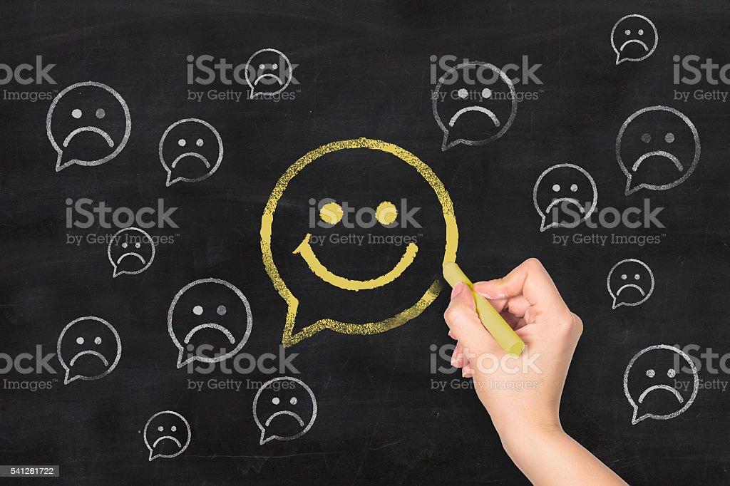 Blackboard Sketch Series stock photo