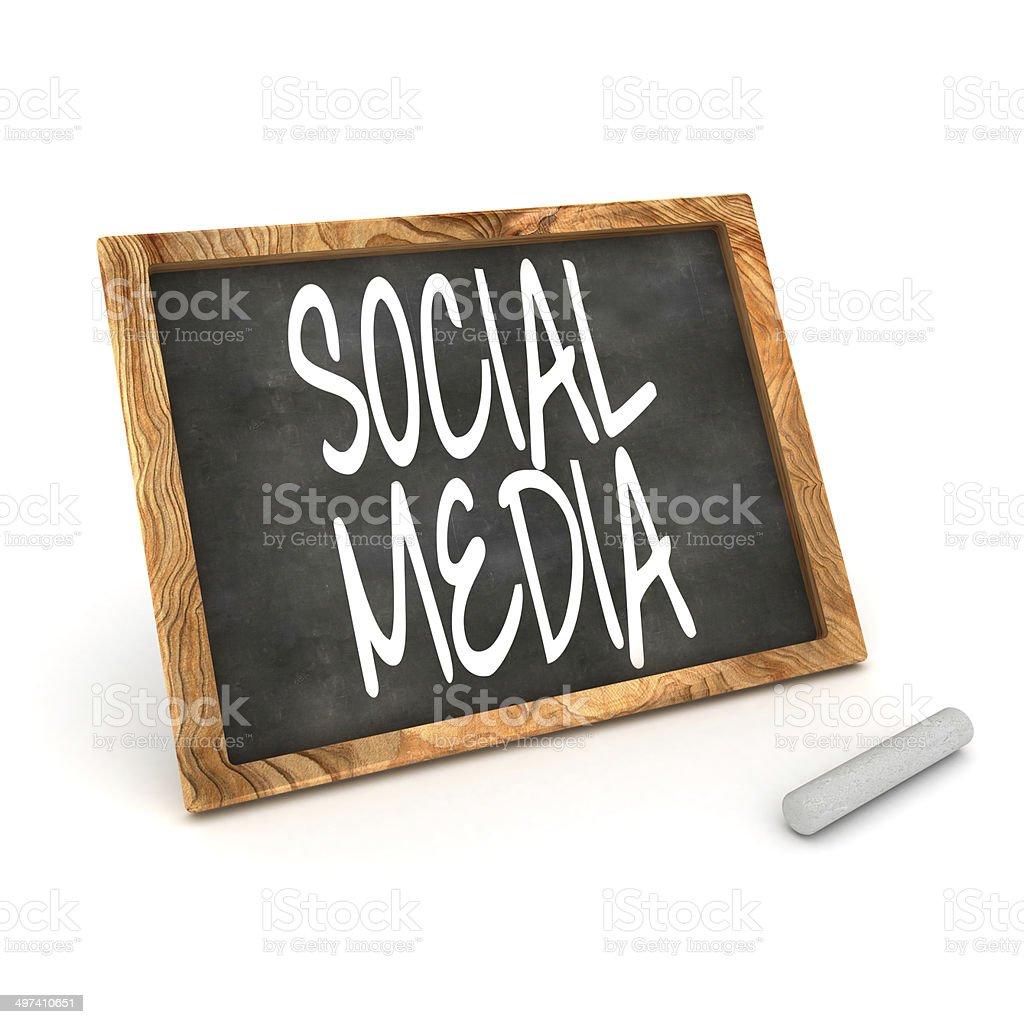 Blackboard Social Media stock photo