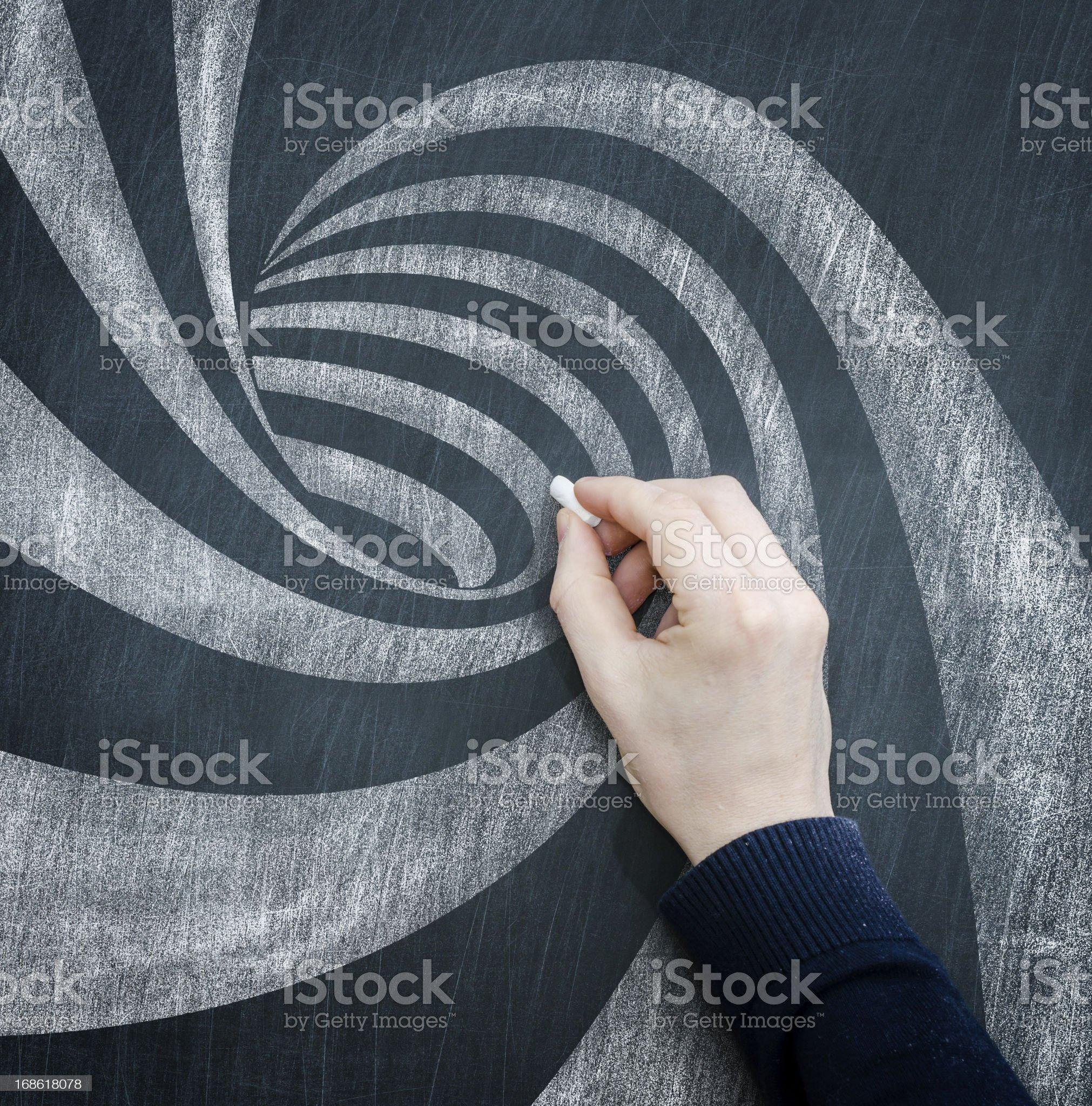 blackboard spiral royalty-free stock photo