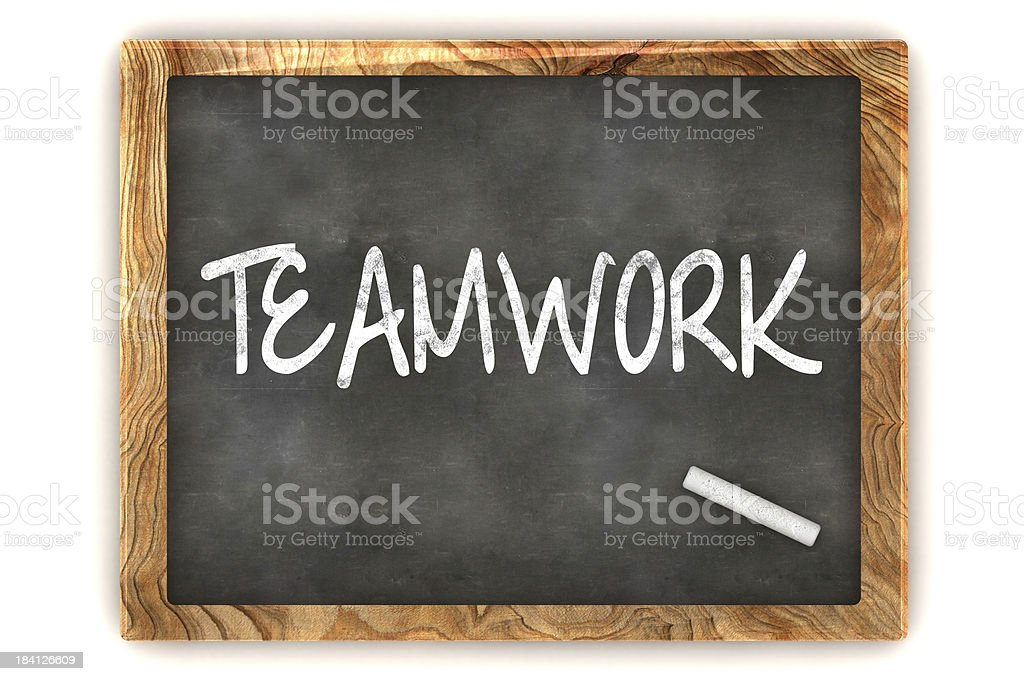 Blackboard Teamwork stock photo