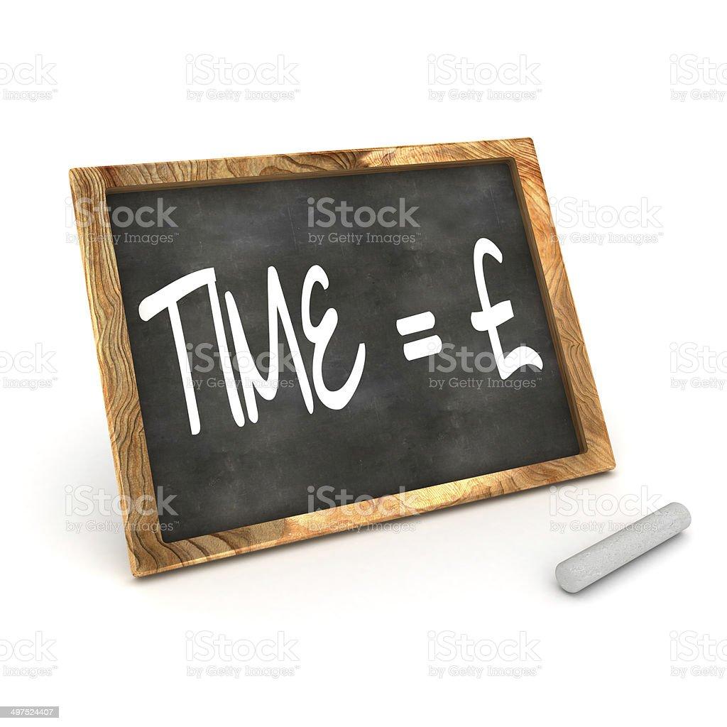 Blackboard Time=Money stock photo