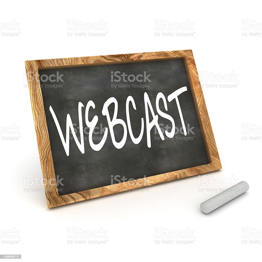 Blackboard Webcast stock photo