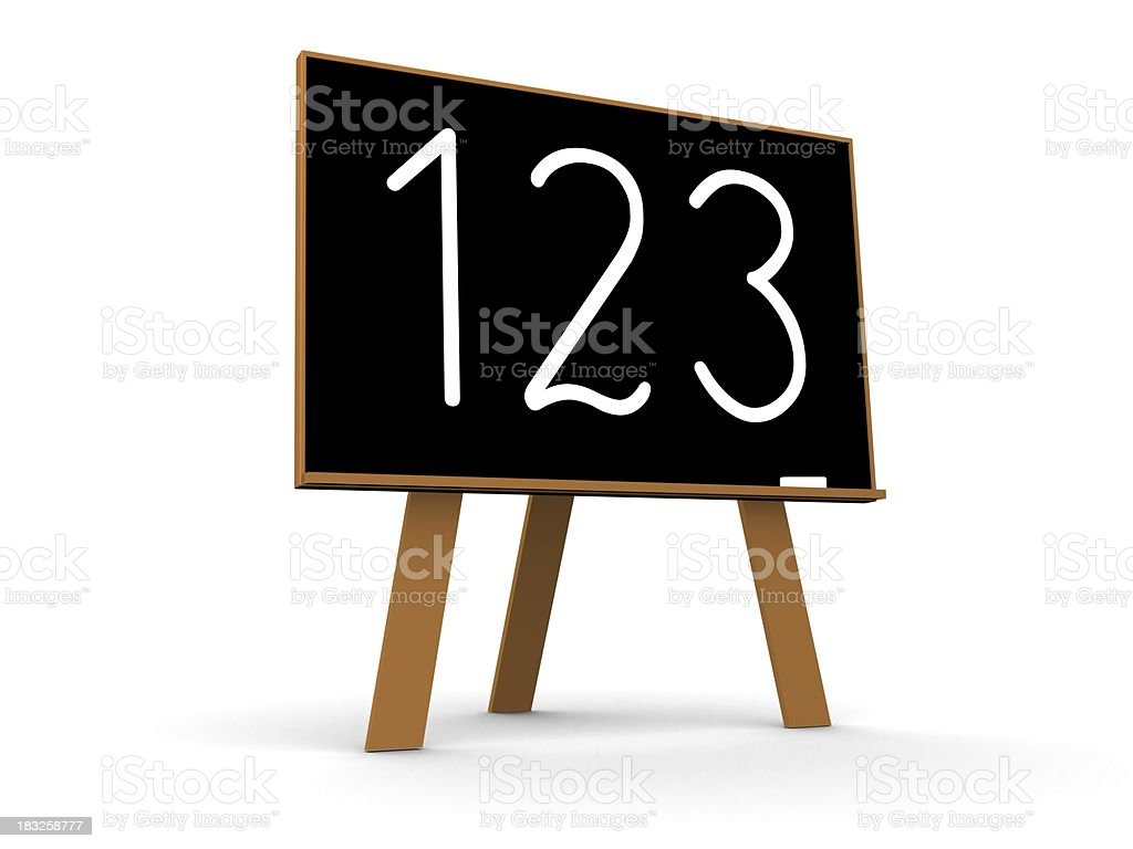 Blackboard with 123 inscription royalty-free stock photo