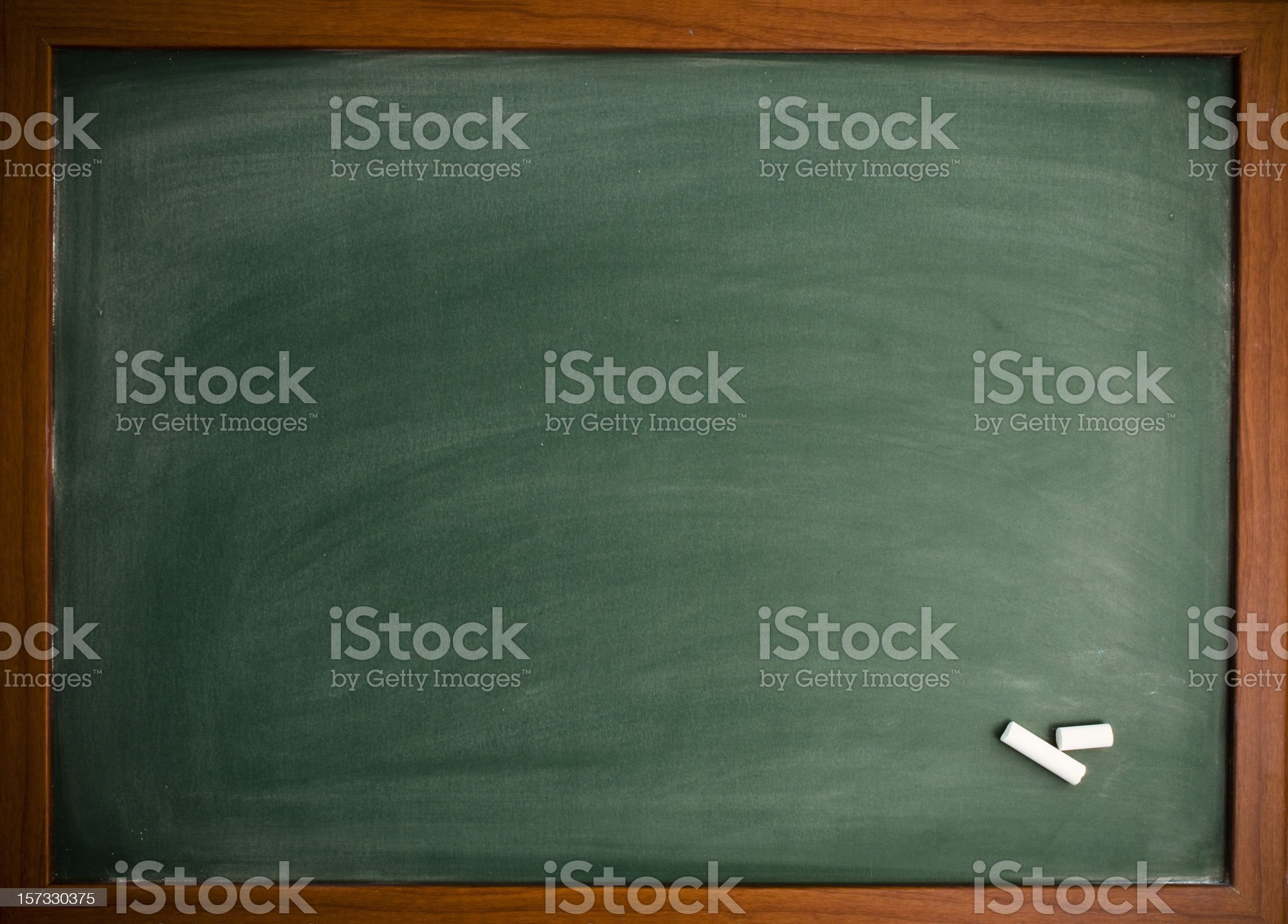 Blackboard with chalk royalty-free stock photo