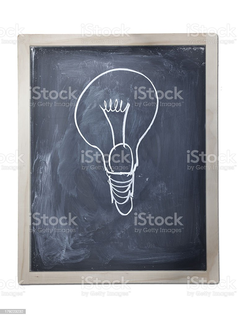 Blackboard with drawings royalty-free stock photo