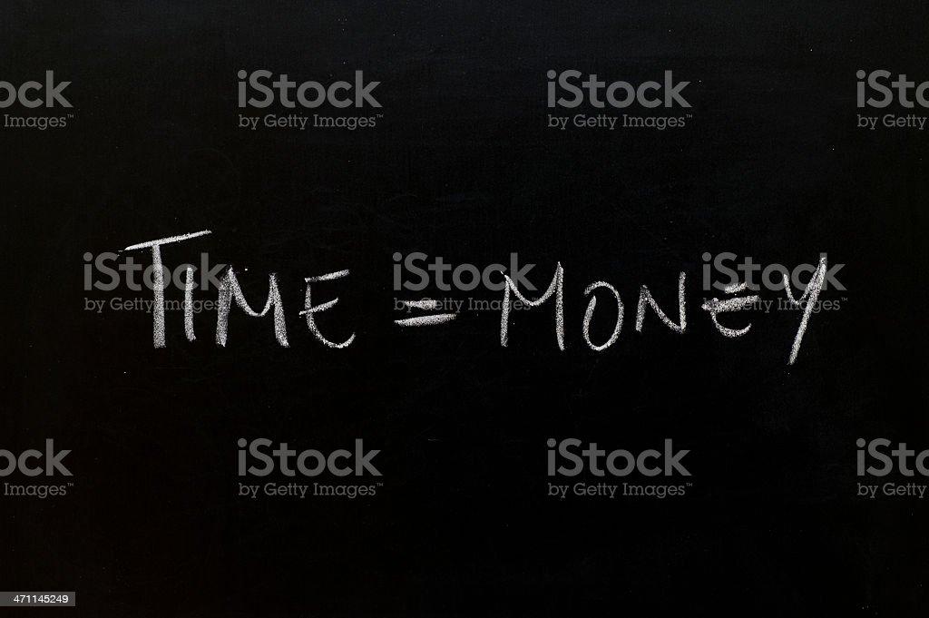 Blackboard with handwritten text. stock photo