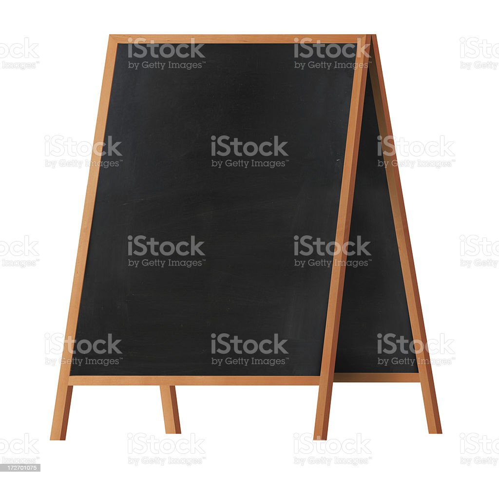 Blackboard with Wooden Frame royalty-free stock photo