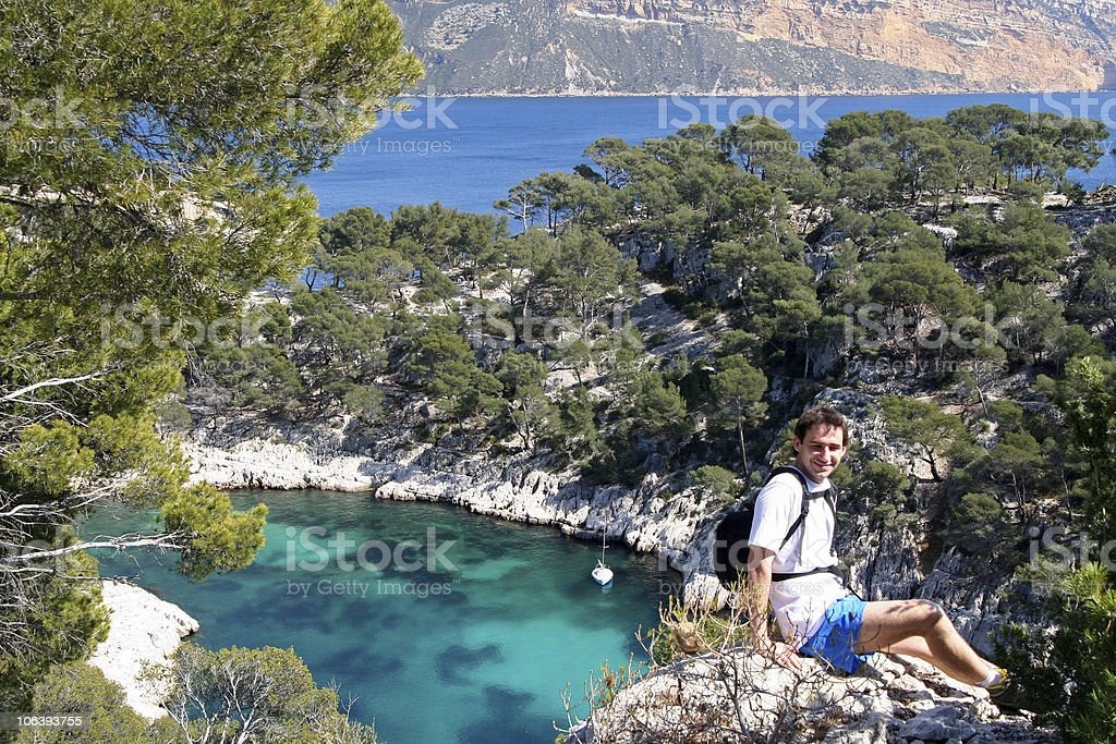 calanques de cassis royalty-free stock photo