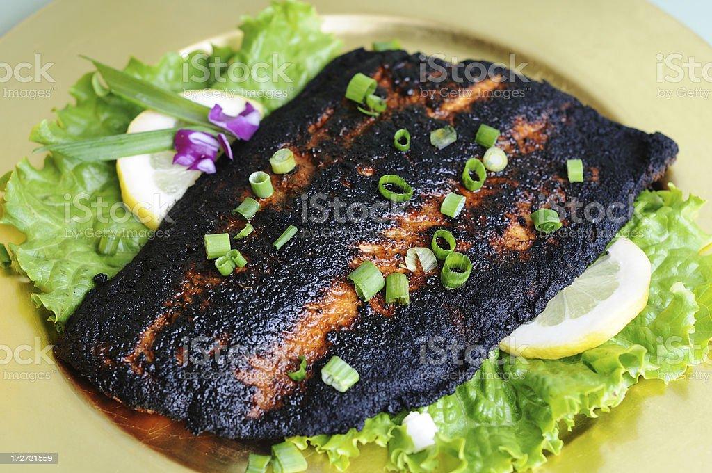 Blackened Salmon royalty-free stock photo