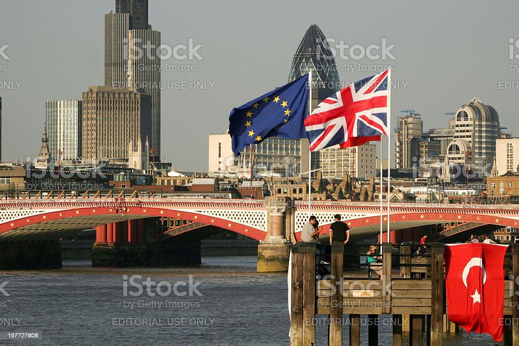 Blackfriars Bridge in London, England stock photo