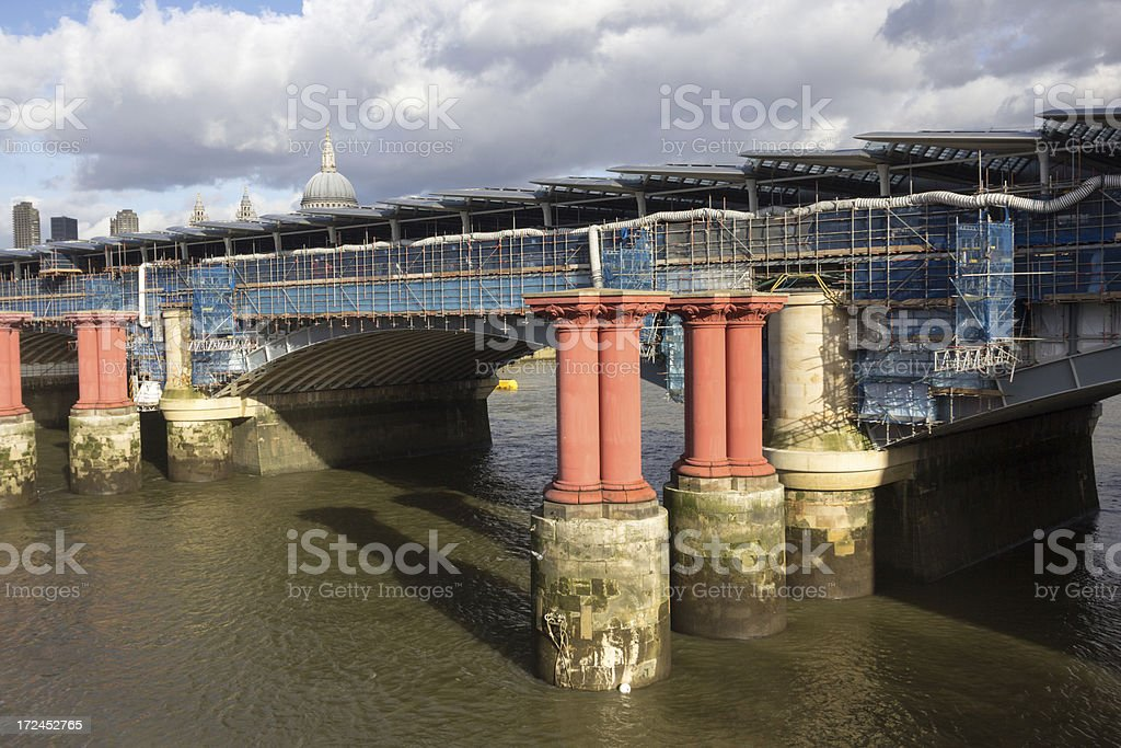 Blackfriars Bridge in London, England royalty-free stock photo
