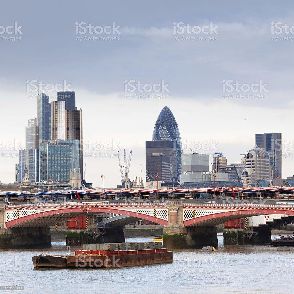 Blackfriars bridge in London royalty-free stock photo