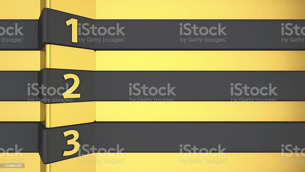 Black-golden list royalty-free stock photo