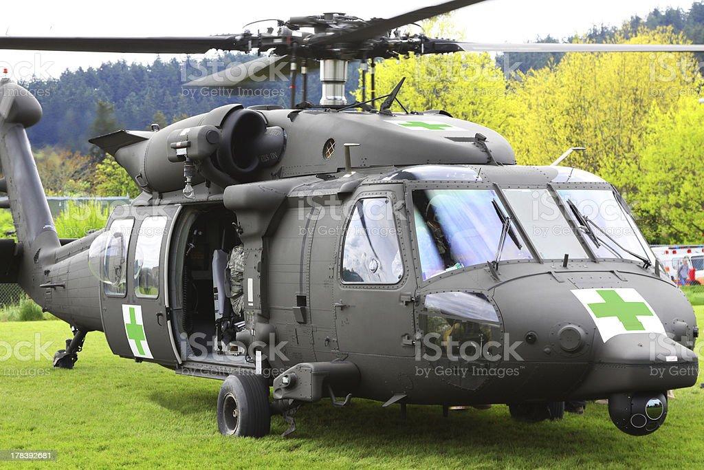 Blackhawk Helicopter Medical Evacuation Open Door stock photo