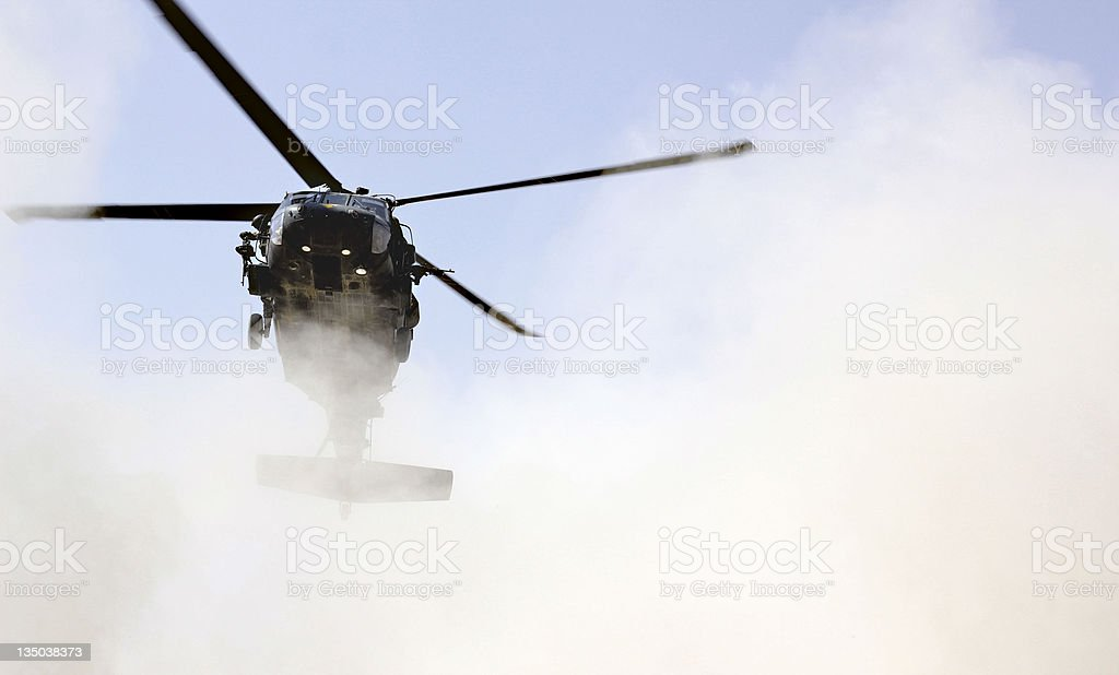 Blackhawk landing stock photo