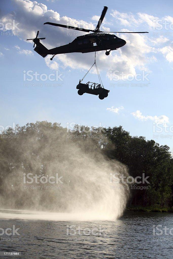 Blackhawk UH-60 Helicopter stock photo