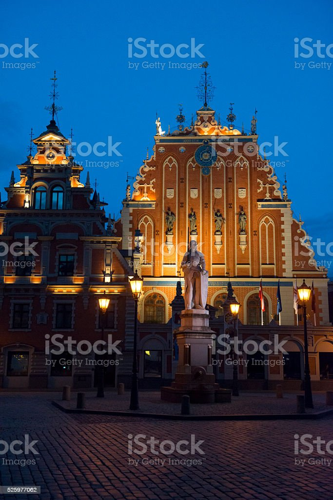 Blackheads' House in Riga, Latvia stock photo