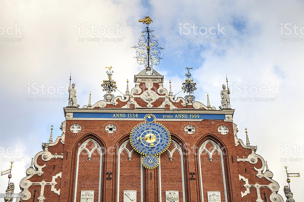 Blackheads house in Riga stock photo