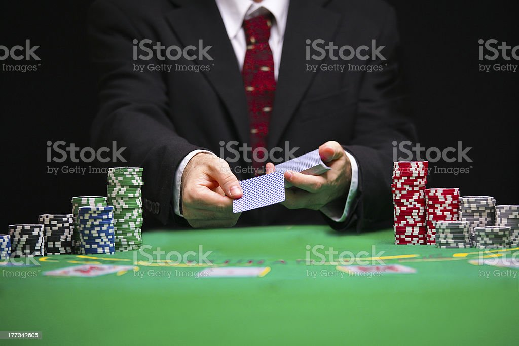 Blackjack Card game stock photo