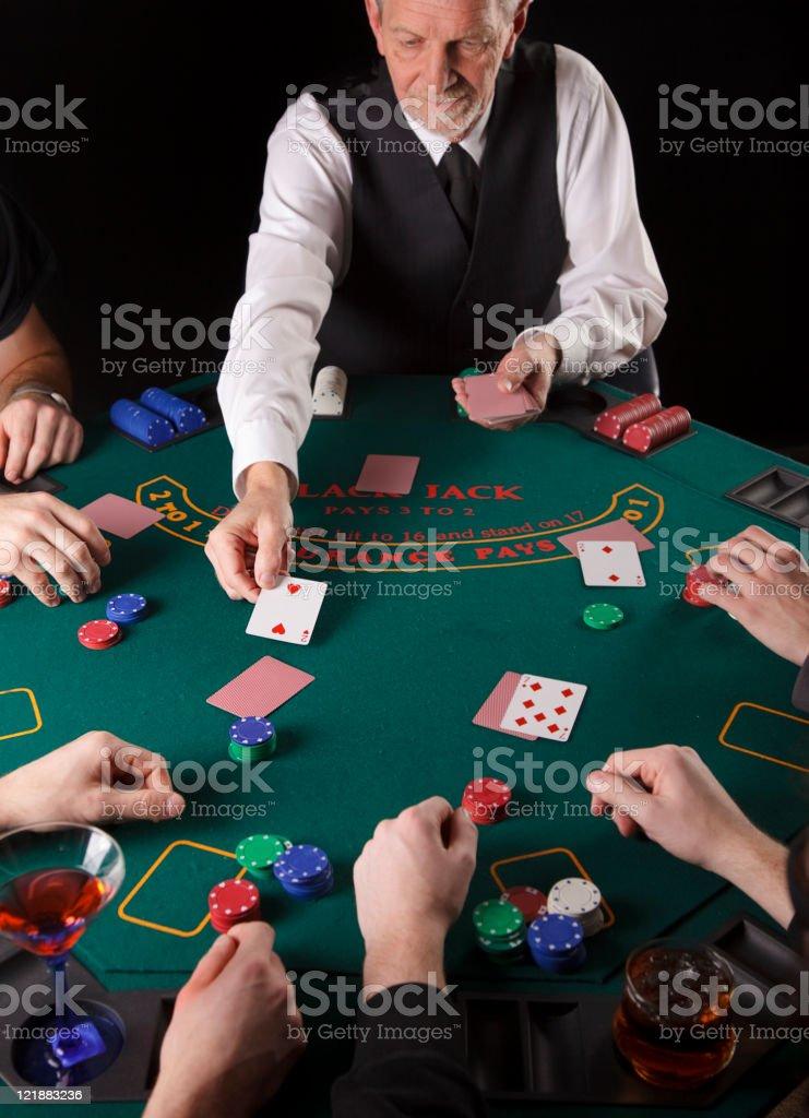 Blackjack Dealer royalty-free stock photo