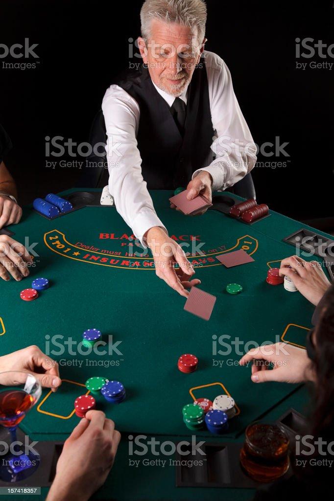 Blackjack Dealer stock photo