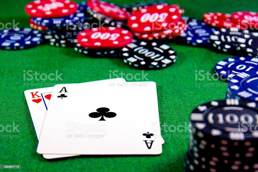 Blackjack hand stock photo