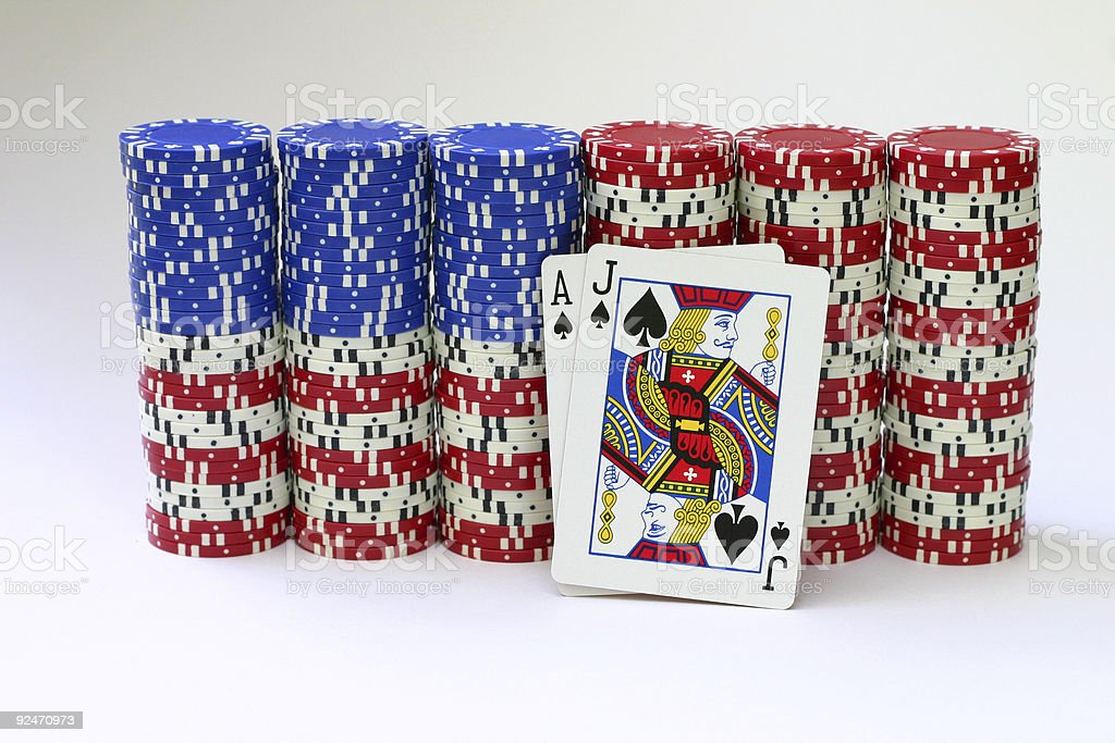 Blackjack on Flag stock photo
