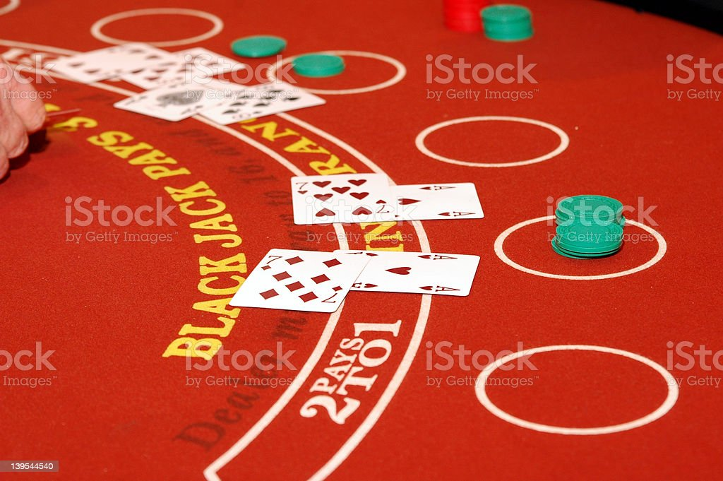Blackjack stock photo