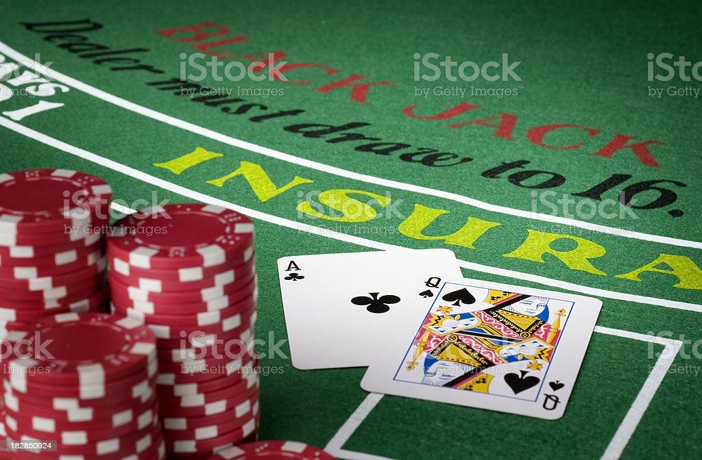 Blackjack royalty-free stock photo