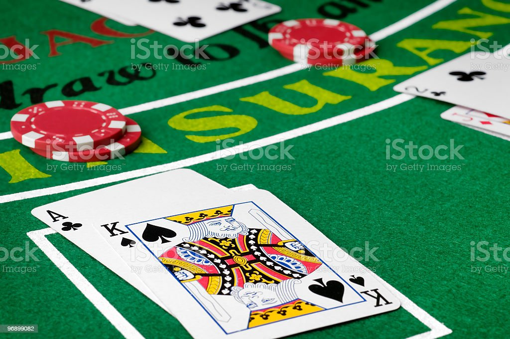 Blackjack Poker stock photo
