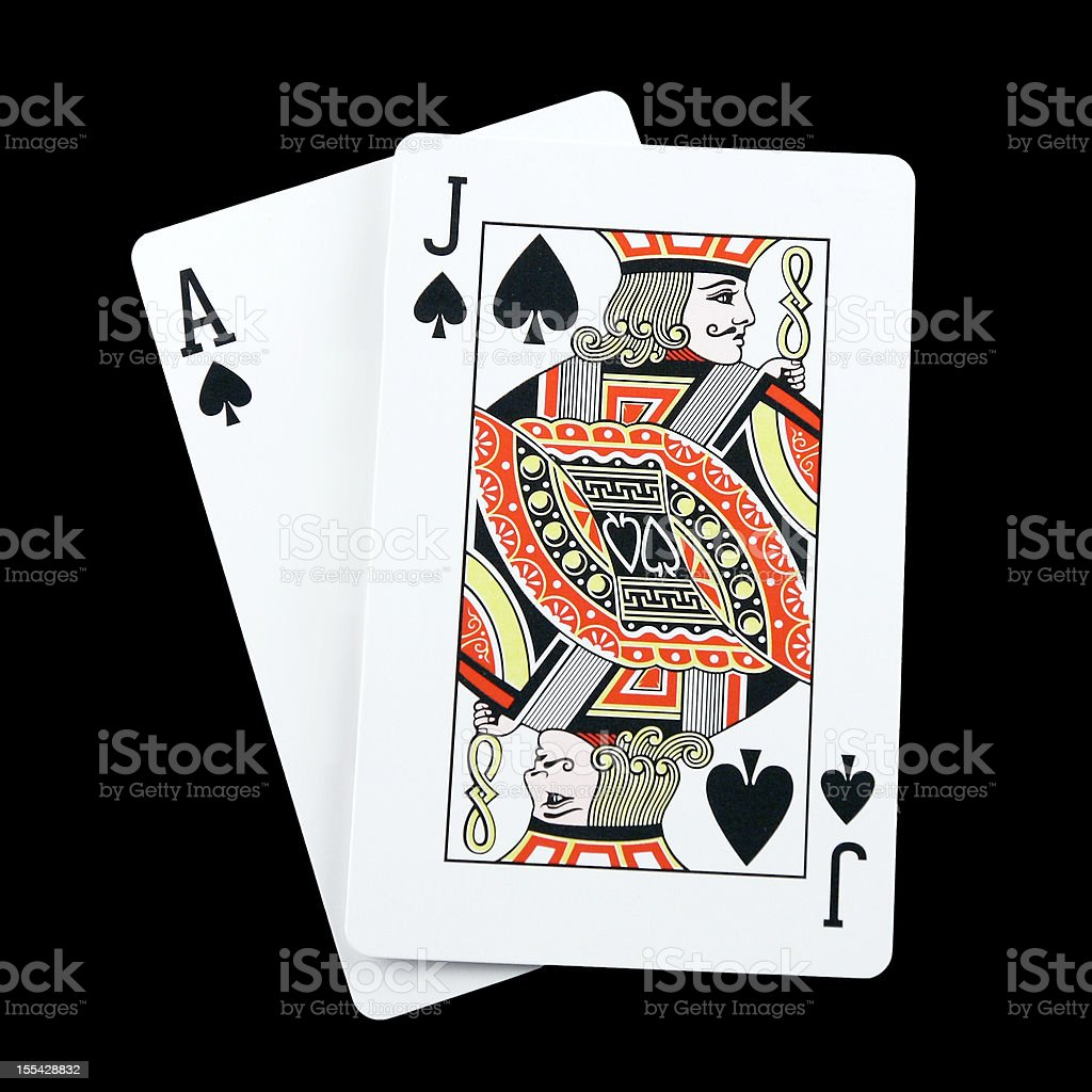 Blackjack spades stock photo