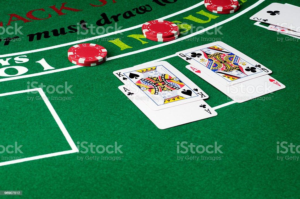 Blackjack Split Aces royalty-free stock photo