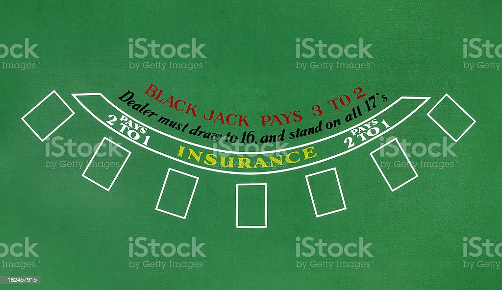 Blackjack Table stock photo
