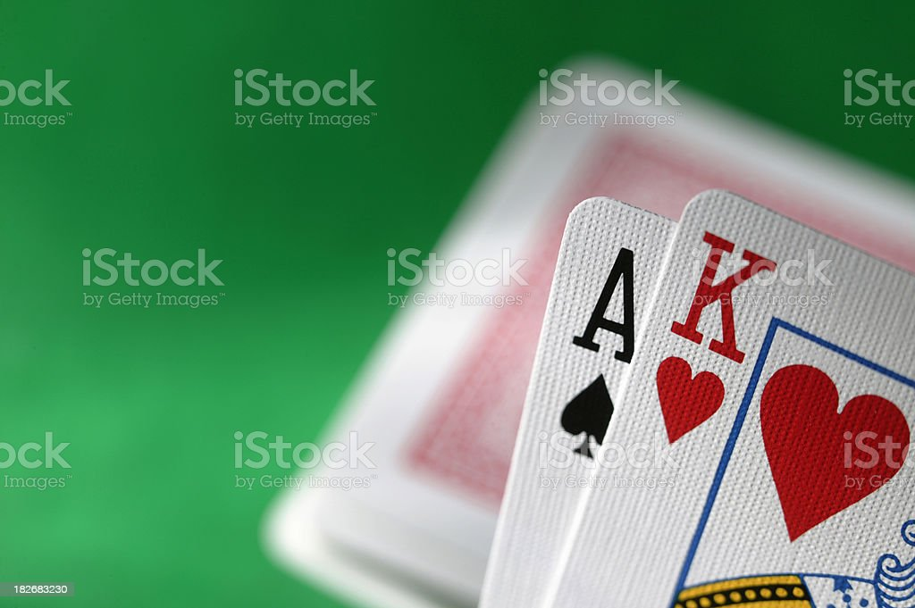 Blackjack with Deck royalty-free stock photo