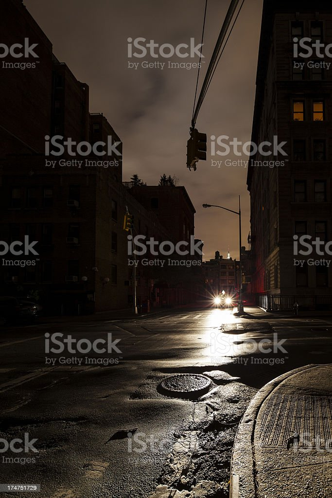Blackout - Dark Urban Street stock photo