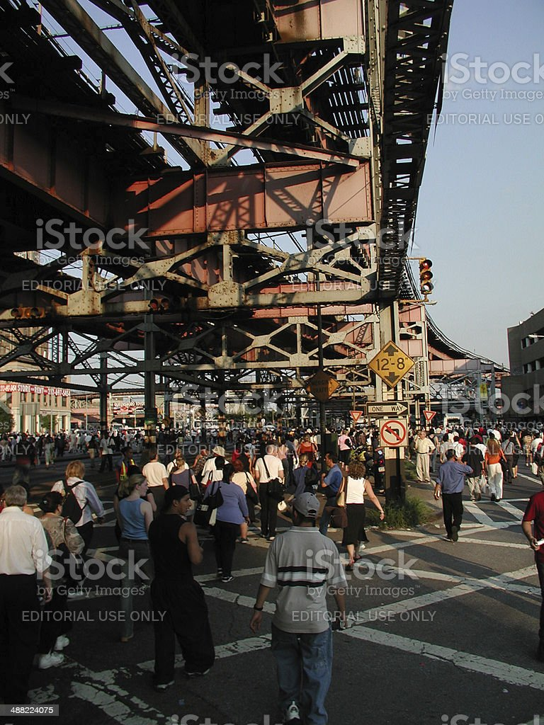 Blackout of 2003 Queens Plaza LIC NYC stock photo
