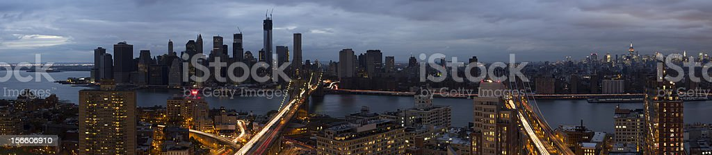 Blackout of Lower Manhattan royalty-free stock photo