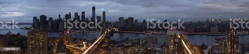 Blackout of Lower Manhattan stock photo