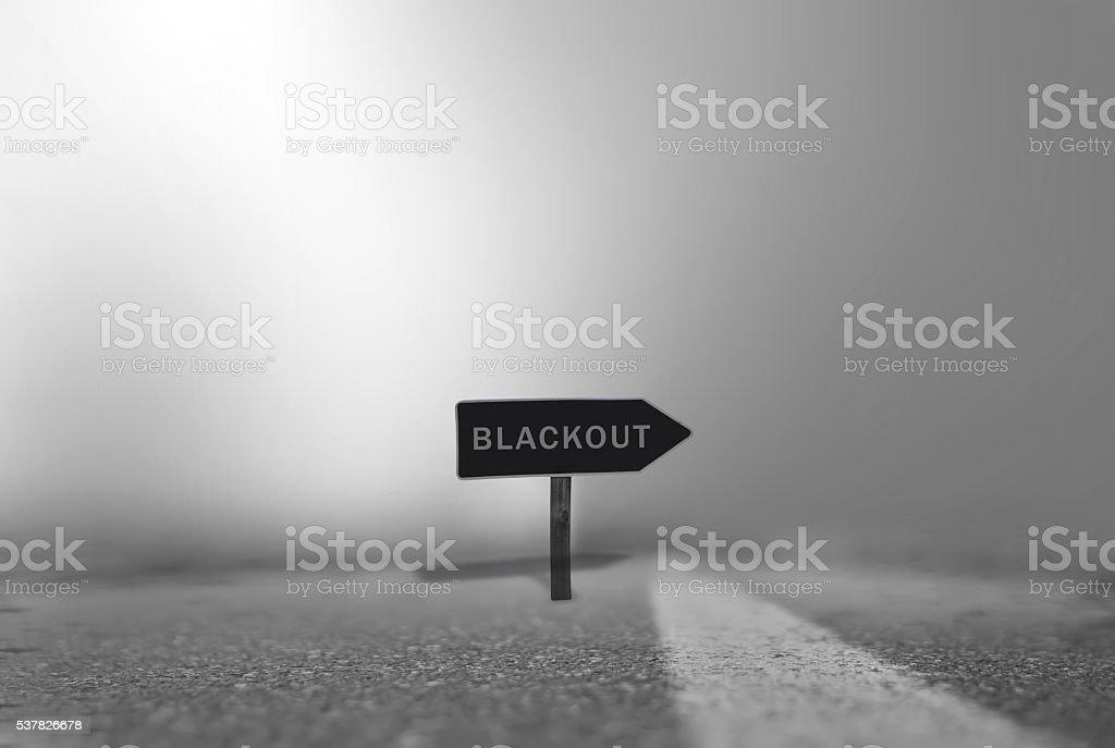 Blackout stock photo