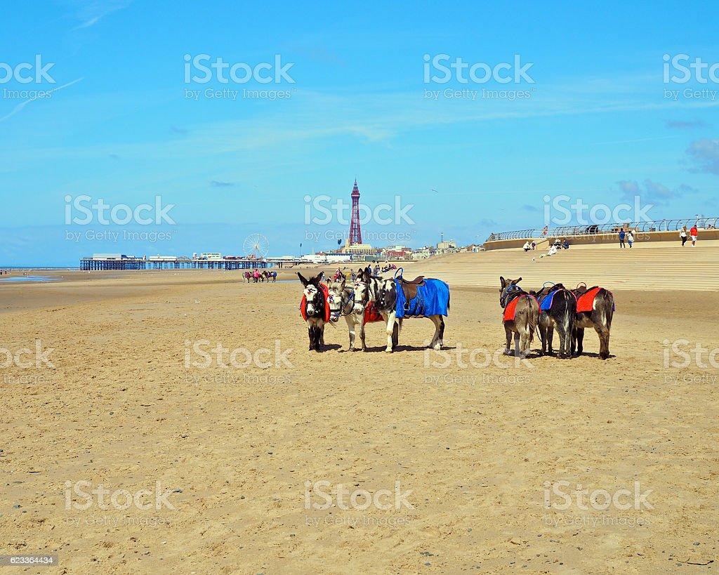 Blackpool Beach stock photo