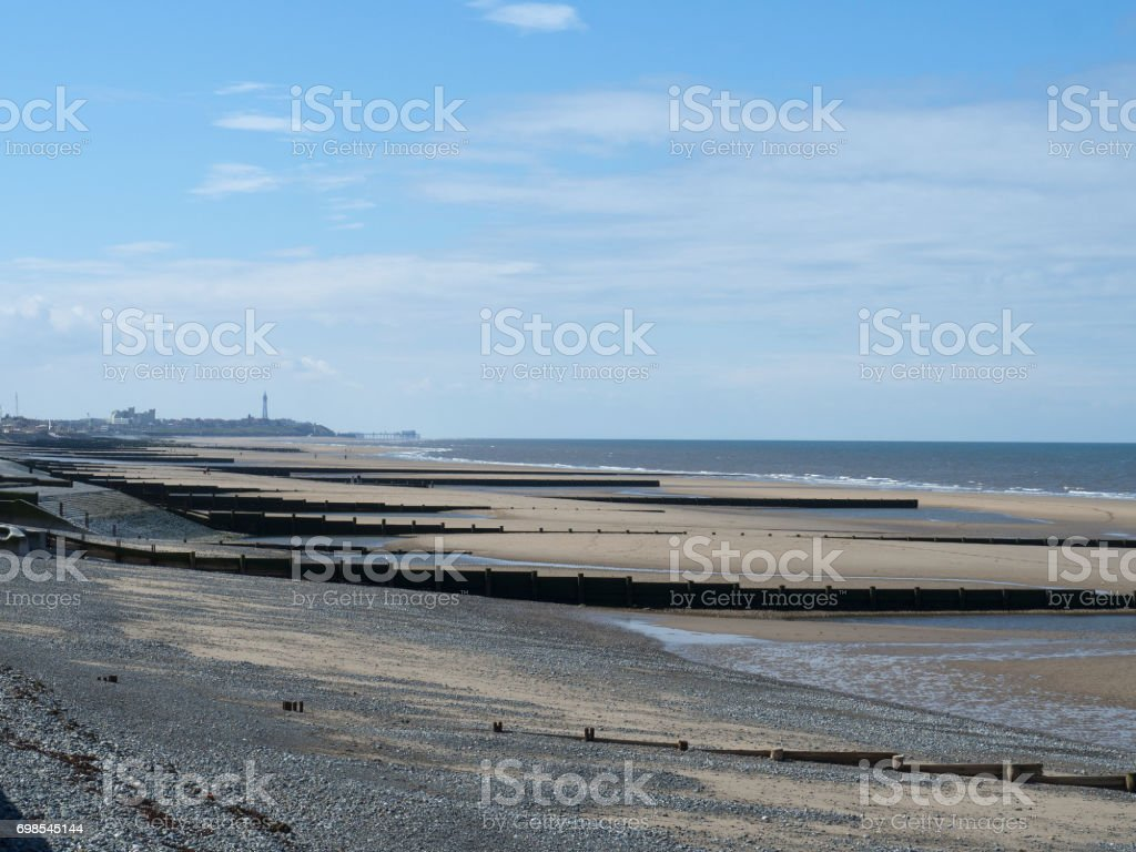 Blackpool by the sea stock photo