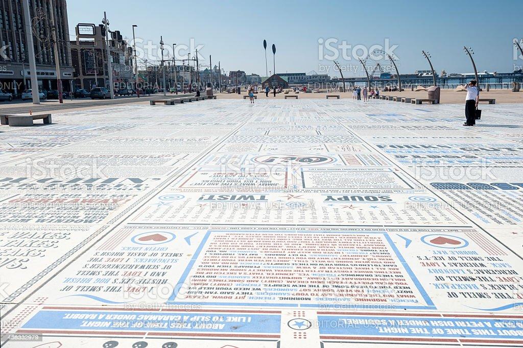 Blackpool Comedy Carpet royalty-free stock photo